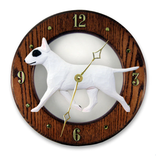 Bull Terrier Wall Clock - Michael Park, Woodcarver