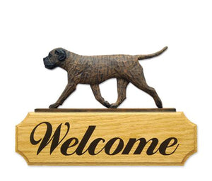 Bullmastiff DIG Welcome Sign