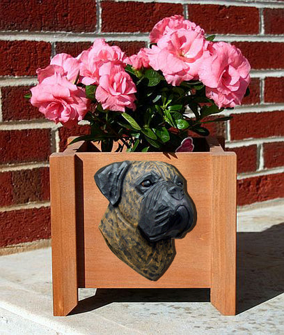 Bullmastiff Planter Box - Michael Park, Woodcarver