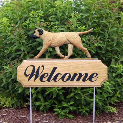 Bullmastiff DIG Welcome Stake - Michael Park, Woodcarver