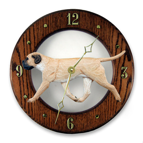 Bullmastiff Wall Clock - Michael Park, Woodcarver