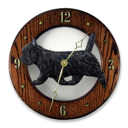 Cairn Terrier Wall Clock - Michael Park, Woodcarver