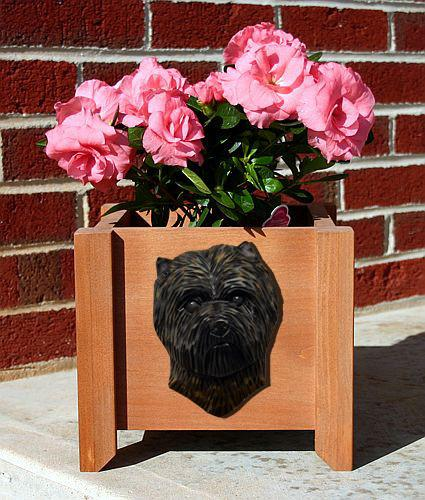 Cairn Terrier Planter Box - Michael Park, Woodcarver