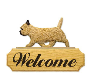 Cairn Terrier DIG Welcome Sign