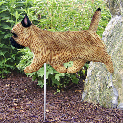 Cairn Terrier Garden Stake - Michael Park, Woodcarver