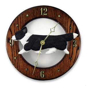 Welsh Corgi (Cardigan) Wall Clock - Michael Park, Woodcarver