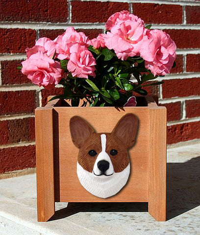 Welsh Corgi (Cardigan) Planter Box - Michael Park, Woodcarver