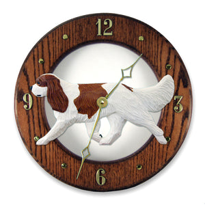 Cavalier King Charles Spaniel Wall Clock - Michael Park, Woodcarver