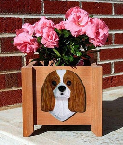 Cavalier King Charles Spaniel Planter Box - Michael Park, Woodcarver
