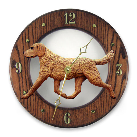 Chesapeake Bay Retriever Wall Clock - Michael Park, Woodcarver