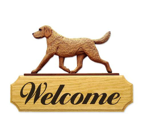 Chesapeake Bay Retriever DIG Welcome Sign
