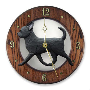Chihuahua Wall Clock - Michael Park, Woodcarver