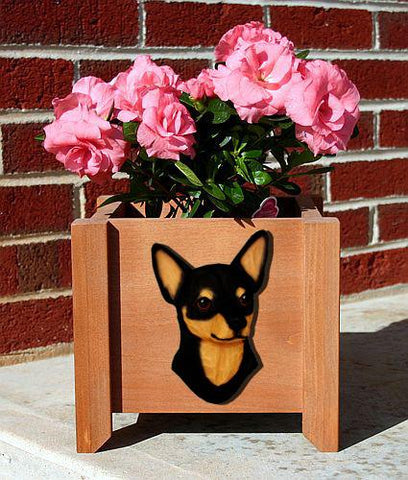 Chihuahua Planter Box - Michael Park, Woodcarver