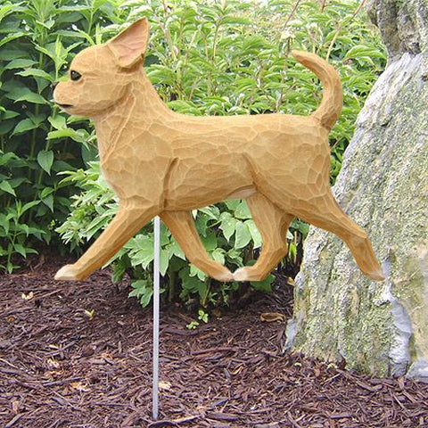Chihuahua Garden Stake - Michael Park, Woodcarver