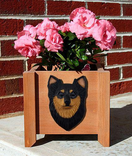Chihuahua (Longhaired) Planter Box - Michael Park, Woodcarver
