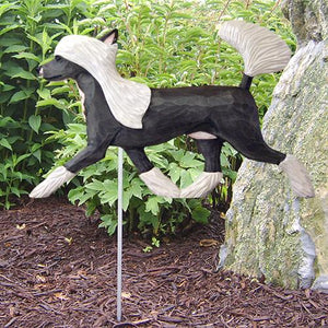 Chinese Crested Garden Stake - Michael Park, Woodcarver
