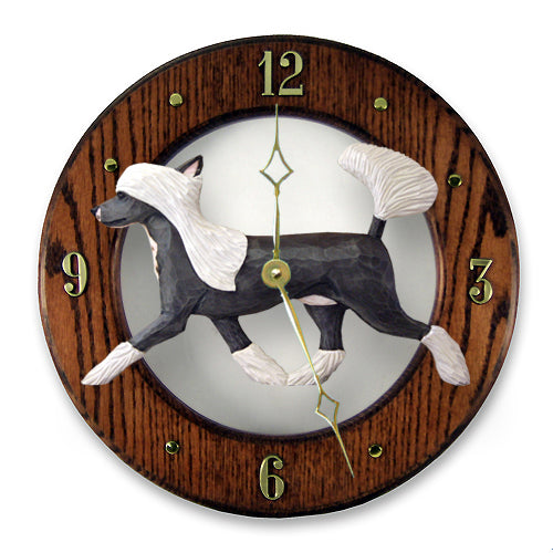 Chinese Crested Wall Clock - Michael Park, Woodcarver