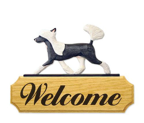 Chinese Crested DIG Welcome Sign