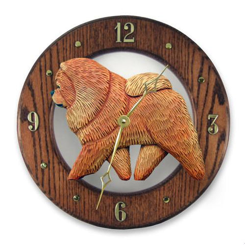 Chow Chow Wall Clock - Michael Park, Woodcarver