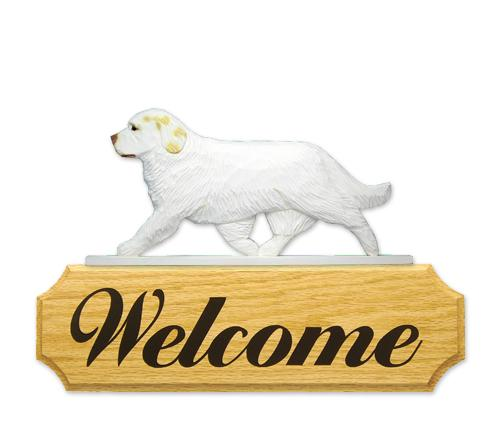 Clumber Spaniel DIG Welcome Sign