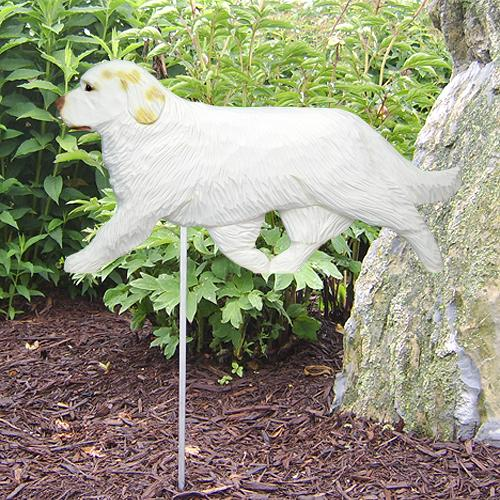 Clumber Spaniel Garden Stake - Michael Park, Woodcarver