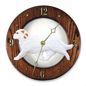 Clumber Spaniel Wall Clock - Michael Park, Woodcarver