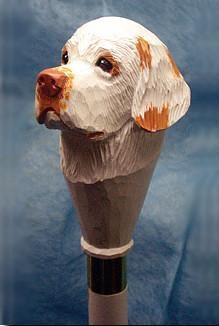 Clumber Spaniel Walking Stick