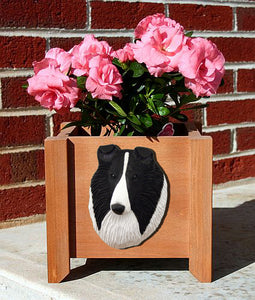 Collie Planter Box - Michael Park, Woodcarver