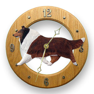 Collie Wall Clock - Michael Park, Woodcarver