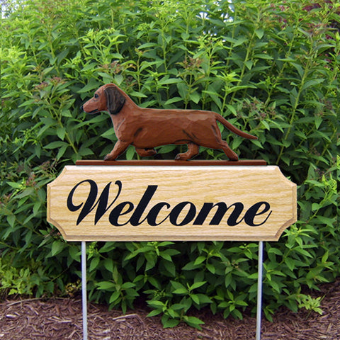 Dachshund (Smooth) DIG Welcome Stake - Michael Park, Woodcarver