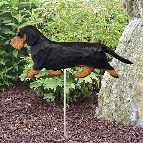 Dachshund (Wirehaired) Garden Stake - Michael Park, Woodcarver