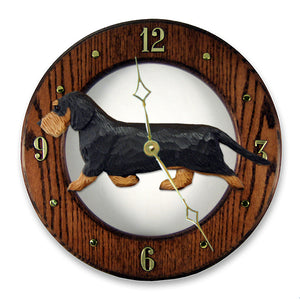 Dachshund (Wirehaired) Wall Clock - Michael Park, Woodcarver