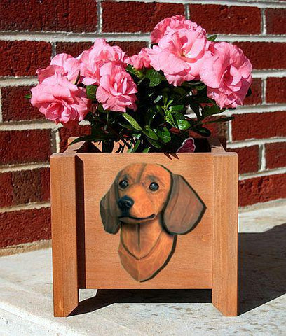 Dachshund (Smooth) Planter Box - Michael Park, Woodcarver