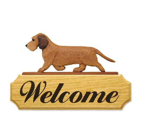 Dachshund (Wirehaired) DIG Welcome Sign