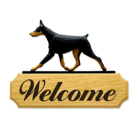 Doberman DIG Welcome Sign