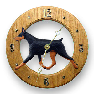 Doberman Wall Clock - Michael Park, Woodcarver