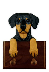 Doberman (Natural) Leash Holder