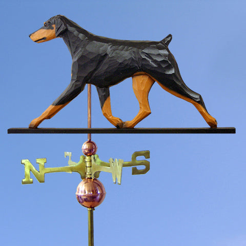 Doberman (Natural) Weathervane - Michael Park, Woodcarver