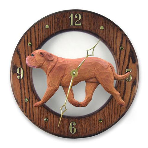 Dogue de Bordeaux Wall Clock - Michael Park, Woodcarver