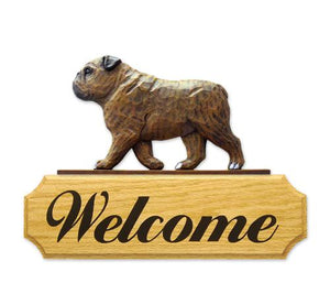 English Bulldog DIG Welcome Sign