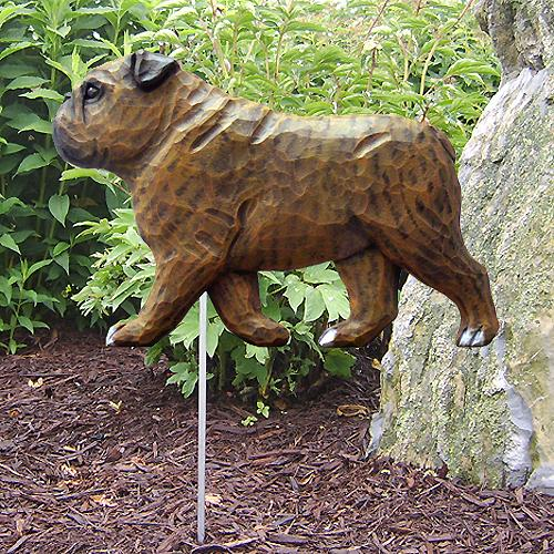 English Bulldog Garden Stake