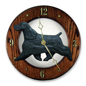 English Cocker Spaniel Wall Clock - Michael Park, Woodcarver