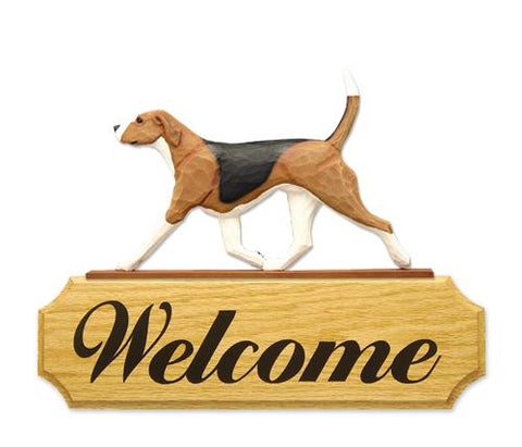 English Foxhound DIG Welcome Sign