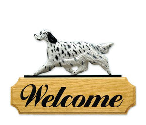 English Setter DIG Welcome Sign