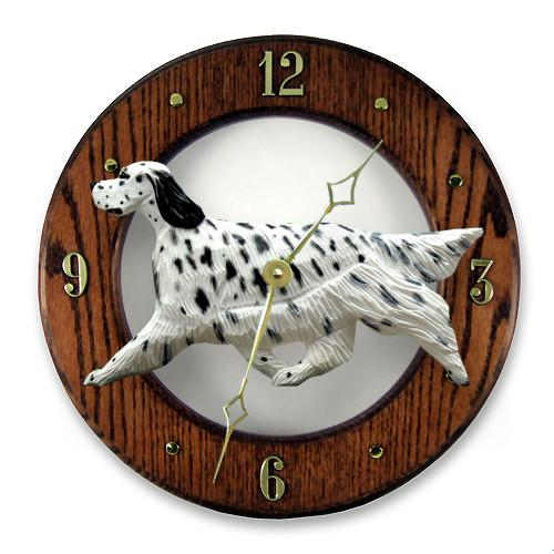 English Setter Wall Clock - Michael Park, Woodcarver
