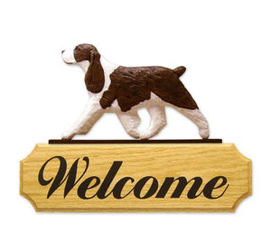 English Springer Spaniel DIG Welcome Sign