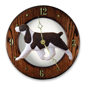 English Springer Spaniel Wall Clock - Michael Park, Woodcarver