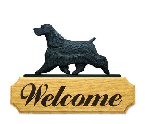 English Cocker Spaniel DIG Welcome Sign