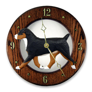 Entlebucher Mt. Dog Wall Clock - Michael Park, Woodcarver