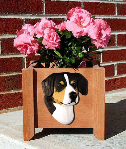 Entlebucher Mtn. Dog Planter Box - Michael Park, Woodcarver